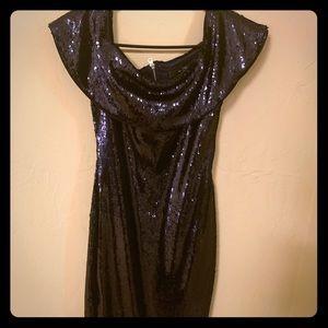 TFNC Off shoulder sequin dress